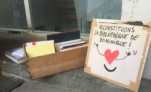 Des riverains et des proches du SDF ont déjà lancé un appel pour reconstituer la bibliothèque de Dominique.