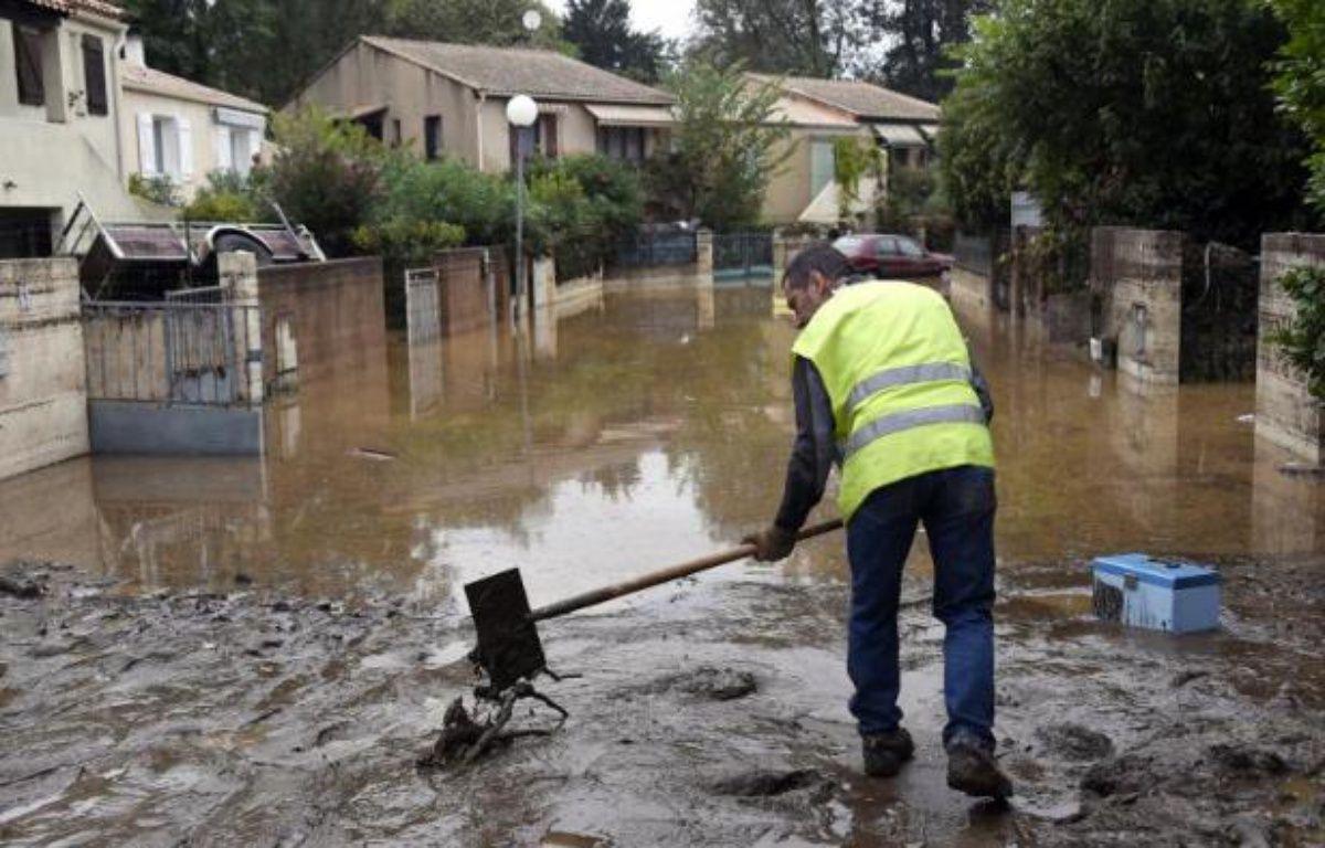Dégâts dans une des rues de Lamalou-les-Bains (Hérault), le 18 septembre, après les violents orages qui ont frappé le sud de la France – Pascal Guyot AFP