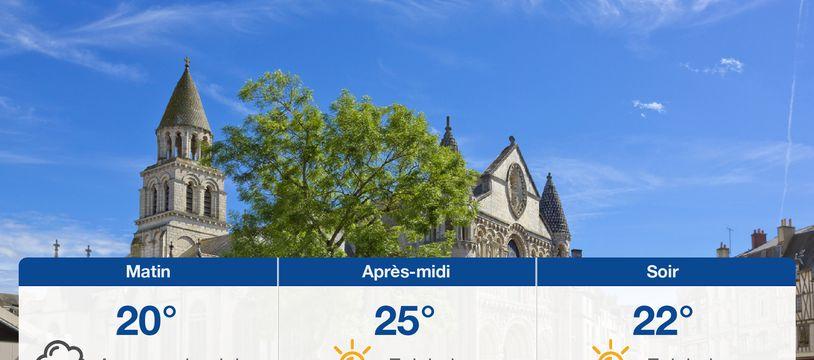 Météo Poitiers: Prévisions du lundi 26 juillet 2021