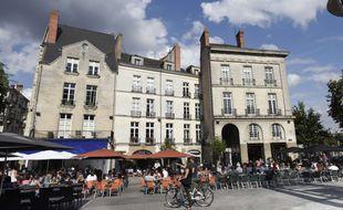 La place du Bouffay à Nantes