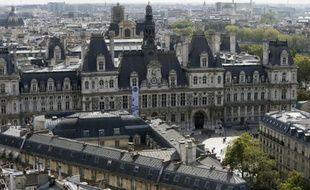 La mairie de Paris photographiée depuis le tour Saint-Jacques le 15 septembre 2012