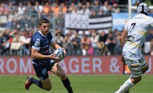 L'arrière vannetais Anthony Bouthier lors du succès 50-10 contre Mont-de-Marsan, au 1er tour des play-offs.