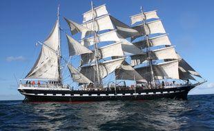 Le célèbre navire Le Belem, classé Monument Historique