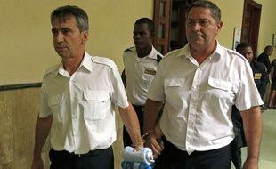 Bruno Odos et Pascal Fauret, en République dominicaine le 17 juin 2014.