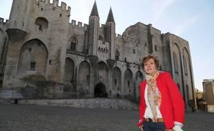 La socialiste Cécile Helle, ici le 27 mars 2014, a remporté l'élection municipale à Avignon.