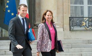 Emmanuel Macron et Ségolène Royal, le 3 août 2016.