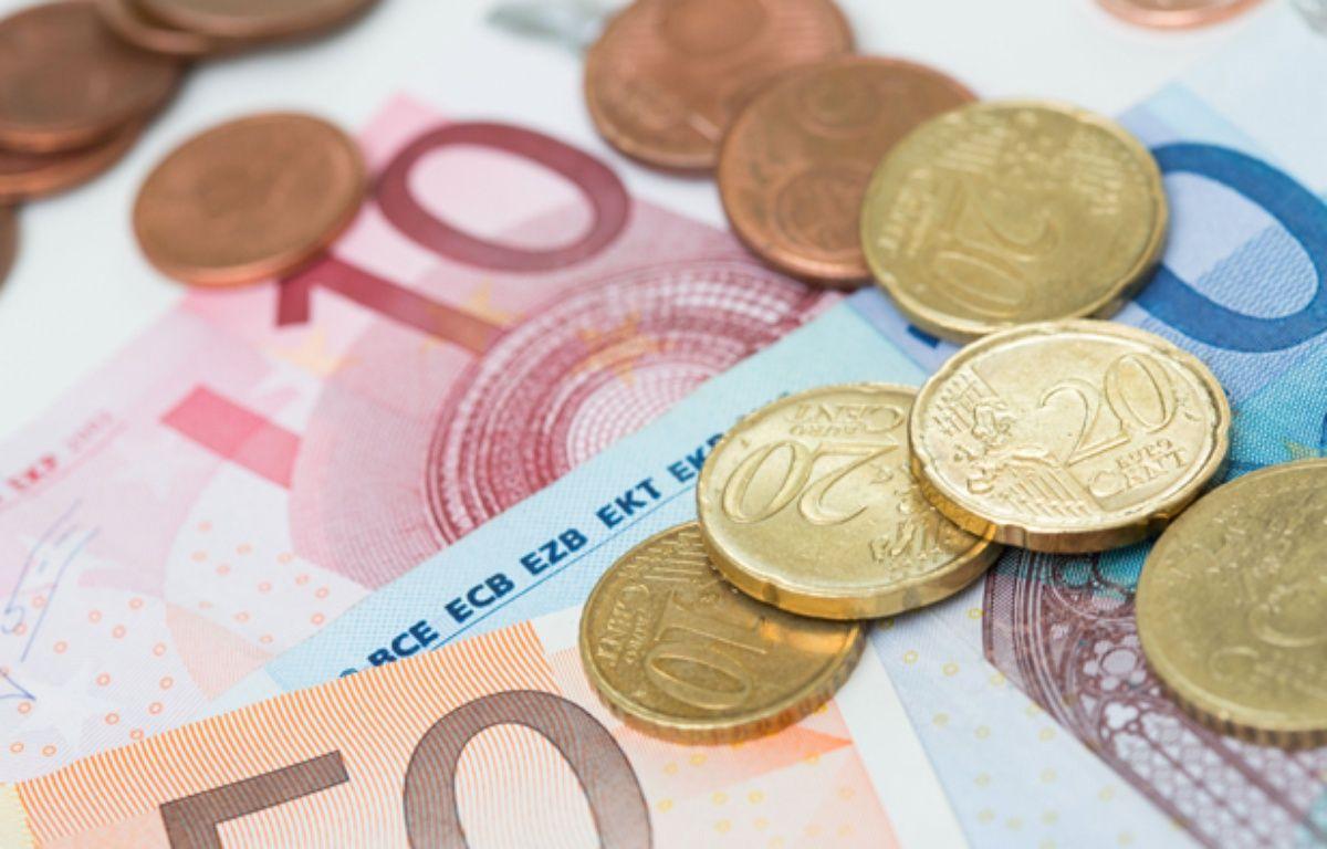 Illustration de billets et de pièce d'euros. –  ISOPIX/SIPA