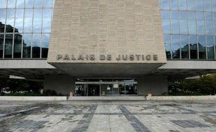 L'entrée du tribunal d'Annecy le 12 septembre 2012