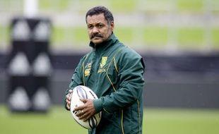 Le sélectionneur de l'équipe d'Afrique du Sud de rugby, Peter de Villiers le 11 septembre 2009 à Hamilton.