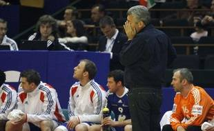 Claude Onesta, le 16 janvier 2012 face à l'Espagne