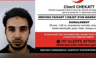 Appel à témoin des autorités pour retrouver le suspect de l'attentat de Strasbourg, Cherif Chekatt.