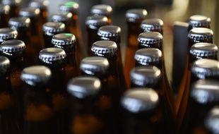 Des bouteilles de bière. Illustration.