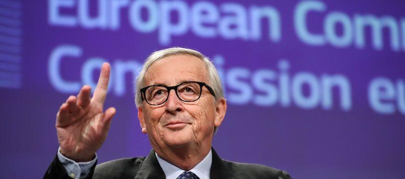 Jean-Claude Juncker, lors de sa conférence de presse de départ de la Commission européenne.