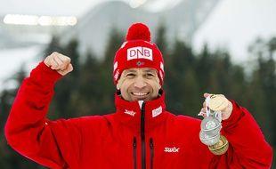A 42 ans, Ole Einar Bjoerndalen a remporté 4 médailles lors des Mondiaux d'Oslo, en mars 2016.