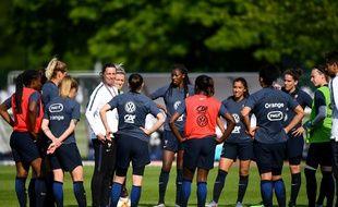 L'équipe de France féminine en préparation pour la Coupe du monde, le 16 mai 2019 à Clairefontaine.