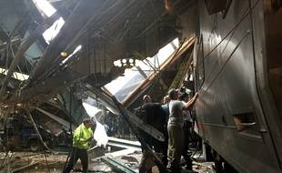 Un accident de train a fait plusieurs un mort et 100 blessés à Hoboken, aux Etats-Unis, le 29 septembre 2016.