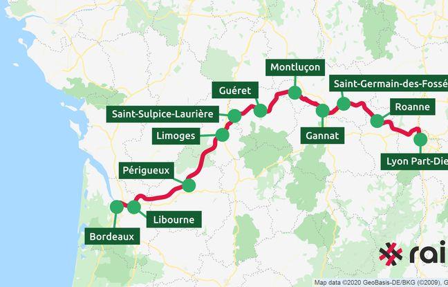 Projet de ligne ferroviaire Bordeaux-Lyon