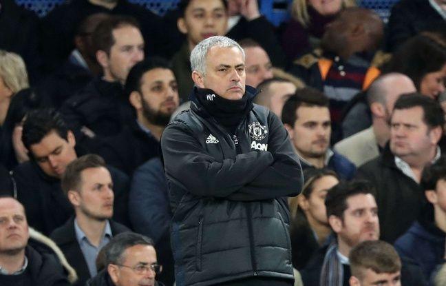 José Mourinho lors de Chelsea-Manchester United en quarts de finale de FA Cup, le 13 mars 2017.