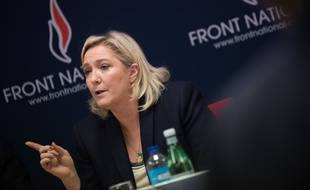 Marine Le Pen, présidente du FN, à Vannes le 20novembre 2015.