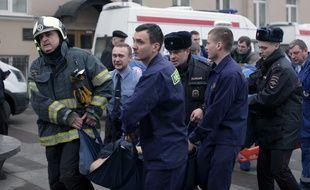 Une enquête pour «acte terroriste» est ouverte après l'explosion d'une bombe dans le métro de Saint-Pétersbourg, le 3 avril 2017.