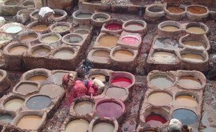 La tannerie Chouara de Fés existe depuis 1000 ans.