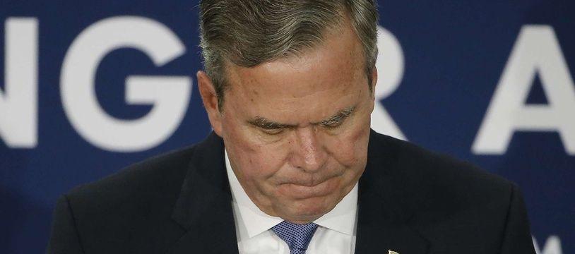 Jeb Bush lors d'un meeting en Caroline du Sud, le 20 février 2016.