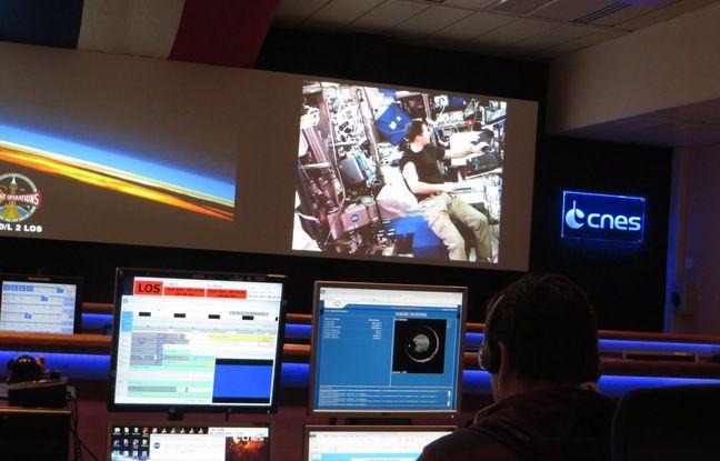 Jeudi 2 mars, au CNES de Toulouse où l'expérience de l'astronaute Thomas Pesquet est suivie en direct.