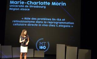 Marie-Charlotte Morin, doctorante à l'Université de Strasbourg et 2e du concours international francophone «Ma thèse en 180 secondes».