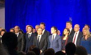 Nicolas Sarkozy et ses soutiens à Saint-André-Lez-Lille le 8 mai 2016.