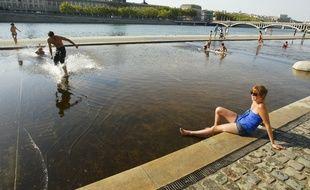 Photo d'illustration de la chaleur, prise à Lyon.