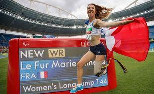 Marie-Amélie Le Fur a battu le record du monde su saut en longueur, le 9 septembre 2016 à Rio.