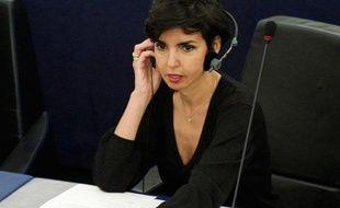 C'est la rentrée des classes pour les eurodéputés. Rachida Dati, fraîchement élue, assiste à la séance inaugurale au Parlement européen, à Strasbourg, mardi 14 juillet 2009.