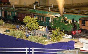 Dans une exposition de modélisme ferroviaire (illustration).