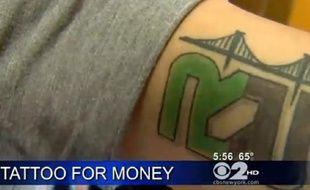 Un tatouage d'un employé de Rapid Realty.