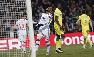 Alexandre Lacazette s'est montré plutôt discret pour son retour sur les terrains dimanche face à Nantes.