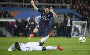 Javier Pastore face à Lyon