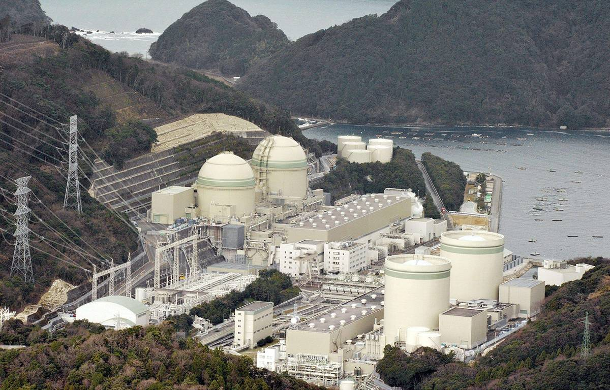 La centrale nucléaire de Takahama, dans l'ouest du Japon. – NEWSCOM/SIPA