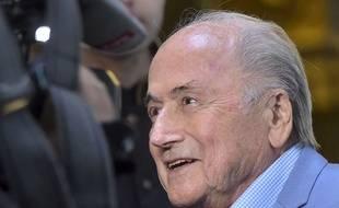 Sepp Blatter à Moscou lors de la Coupe du monde 2018.