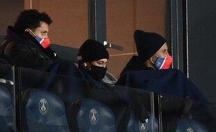 Neymar, Marquinhos et Navas, lors d'un match au Parc des princes en février 2021.