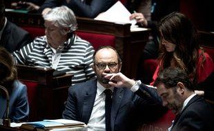 Edouard Philippe lors des Questions au gouvernement à l'Assemblée nationale, le 4 avril 2018.