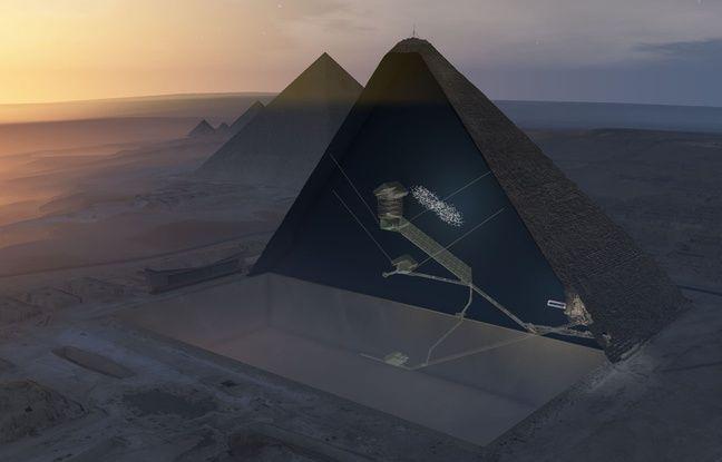 L'intérieur de la pyramide de Khéops par la mission ScanPyramids
