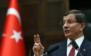 Le Premier ministre turc Ahmet Davutoglu le 9 février 2016 à Ankara