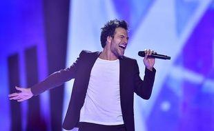 Amir interprète sa chanson «J'ai cherché» en finale de l'Eurovision à Stockholm, le 14 mai 2016.