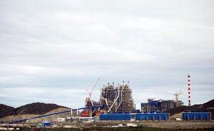L'usine de nickel de Koniambo à Koné en Nouvelle-Calédonie, le 27 juillet 2013