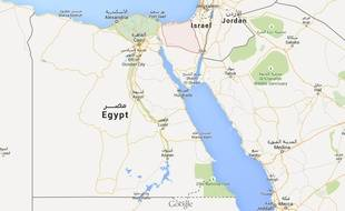 Localisation du Sinaï nord en Egypte.