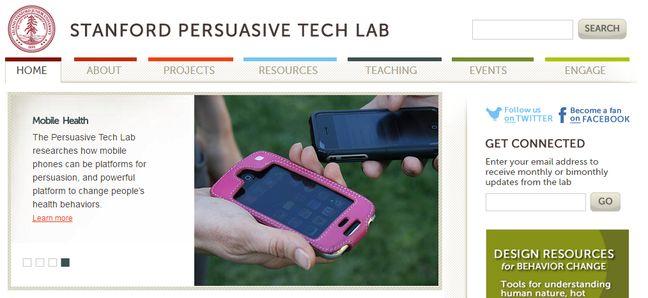 Le Stanford Persuasive Tech Lab, fondée par le psychologue BJ Fogg. Fogg a inventé en 1996 la