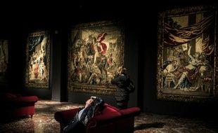 Au musée des Tissus de Lyon.