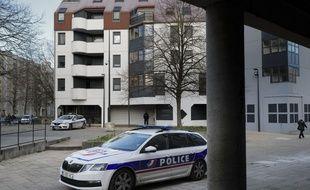 Une voiture de police dans le quartier de la Planoise, à Besançon. (archives)