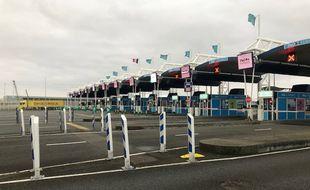 Le trafic de voyageurs entre l'Angleterre et la France est quasi inexistant sur le port de Calais.