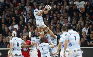 Lille, le 16 mai 2014. Premiere demi finale du championnat de top 14 de rugby qui opposait le RC Toulon au Paris Racing Metro au stade Pierre-Mauroy.